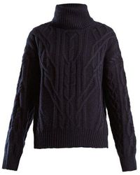 Nili Lotan - Cecil Roll-neck Cashmere Cable-knit Jumper - Lyst