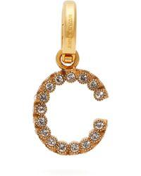 Burberry - Charm lettre C à ornements en cristaux - Lyst