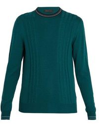 Prada - Cable-knit Wool Jumper - Lyst