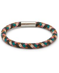 Paul Smith Woven Leather Bracelet - Multicolour