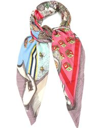 Gucci | Foulard Love Pyramid-print Silk-twill Scarf | Lyst