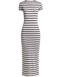 Paco Rabanne - Striped Jersey Midi Dress - Lyst