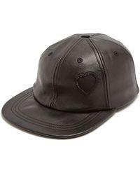 Saint Laurent - Heart-detail Leather Cap - Lyst