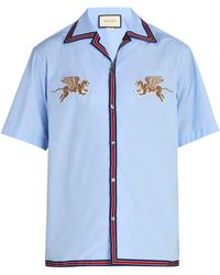 Gucci - Flying Tigers Bowling Shirt - Lyst