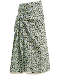 Marni - Multicolour Floral Midi Skirt - Lyst