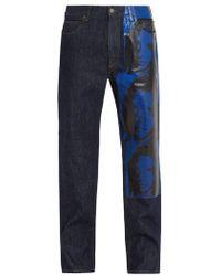 CALVIN KLEIN 205W39NYC - Andy Warhol-print Straight-leg Jeans - Lyst