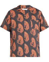 Desmond & Dempsey - Sansindo Tiger Print Cotton Pyjama Top - Lyst