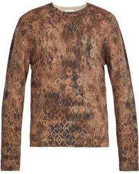 Etro - Vintage-print Wool Jumper - Lyst