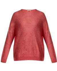 MASSCOB - Dropped-shoulder Mohair-blend Sweater - Lyst