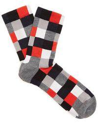 Ashmei - Checked Merino Wool Socks - Lyst