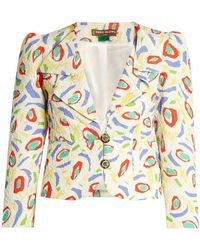Duro Olowu - Abstract Bird Print Cloqué Jacket - Lyst