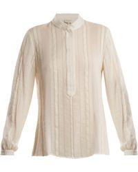 Zeus+Dione - Hera Striped Raw Silk Shirt - Lyst