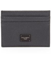 Dolce & Gabbana - Grained-leather Cardholder - Lyst