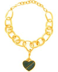 Lizzie Fortunato - Porto Heart Gold Plated Necklace - Lyst