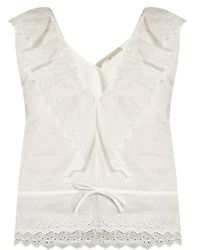Vanessa Bruno - Giwette Broiderie-anglaise Cotton Top - Lyst