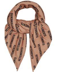 Vetements - Logo-print Fleece Scarf - Lyst