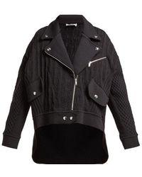 Sonia Rykiel - Cable-knit Biker Cardigan - Lyst