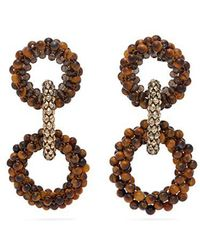 Rosantica By Michela Panero - Carramato Beaded Drop Earrings - Lyst