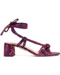 Aquazzura - Delicieuse Disco Jacquard Sandals - Lyst