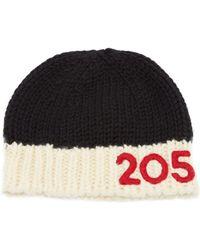 CALVIN KLEIN 205W39NYC - Logo Appliqué Wool Beanie Hat - Lyst