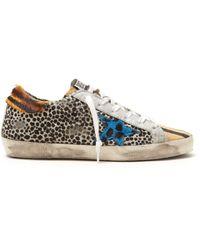 Golden Goose Deluxe Brand - Super Star Leopard Print Low Top Trainers - Lyst