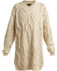 Isabel Marant - Bev Cable-knit Wool Sweater - Lyst