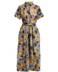 Lisa Marie Fernandez - Floral-print Short-sleeved Cotton Dress - Lyst