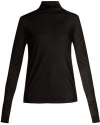 JOSEPH - Silk-jersey Roll-neck Sweater - Lyst
