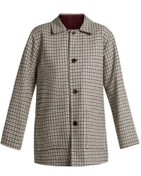 Chimala - Checked Reversible Wool-blend Jacket - Lyst