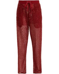 Ashish - Straight Leg Bead And Sequin Embellished Trousers - Lyst