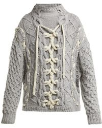 SPENCER VLADIMIR - On Deck Cable Knit Cashmere Sweater - Lyst