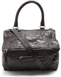 Givenchy - Pandora Medium Creased-leather Bag - Lyst