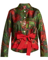 F.R.S For Restless Sleepers - Agon Floral-print Pyjama Shirt - Lyst