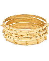 Sylvia Toledano - Gold-plated Multi-bangle Set - Lyst