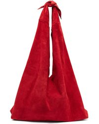 The Row - Bindle Suede Bag - Lyst