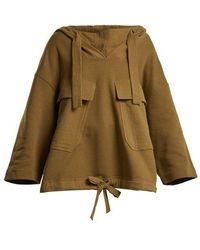 See By Chloé - Hooded Cotton-jersey Sweatshirt - Lyst