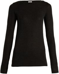 Brunello Cucinelli - Boat-neck Wool Jumper - Lyst