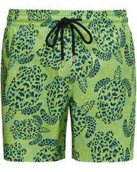 8ce0f55509 Vilebrequin Moorea Glow-in-the-dark Turtles-print Swim Shorts in Blue for  Men - Lyst