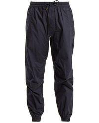 Maharishi - Logo-embroidered Cotton Track Pants - Lyst