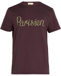 Maison Kitsuné - Printed Cotton T Shirt - Lyst