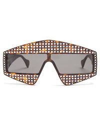 Gucci - Crystal-embellished Acetate Sunglasses - Lyst