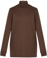 Rick Owens - Roll-neck Cotton Sweater - Lyst
