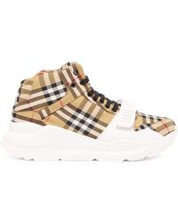 Burberry - Regis Canvas High Top Trainers - Lyst