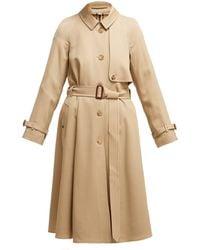 Burberry - Cinderford Woollen Twill Coat - Lyst