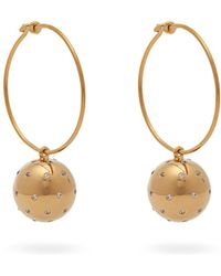 Theodora Warre - Gold-plated Ball And Hoop Earrings - Lyst