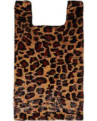 Ashish - Leopard Sequin Embellished Cotton Tote - Lyst