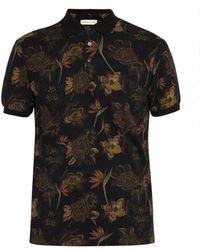 Etro Floral Print Cotton Polo Shirt