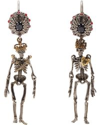 Alexander McQueen | Embellished-skeleton Earrings | Lyst