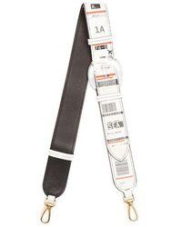 Maison Margiela - Travel Ticket-print Leather Bag Strap - Lyst