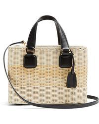 Mark Cross - Manray Small Wicker Basket Bag - Lyst